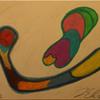 Pastellmalerei, Zeichnung, Abstrakt, Bunt