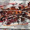 Abstrakt, Orange, Fantasie, Acrylmalerei