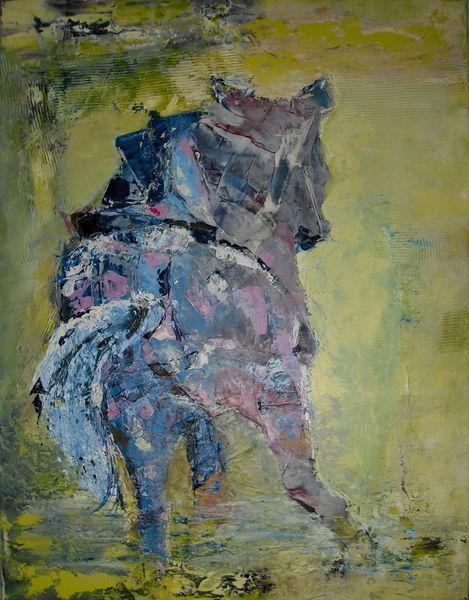 Pferde, Reiten, Bewegung, Malerei