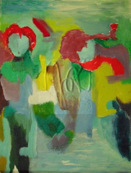 Menschen, Sonne, Tanz, Malerei