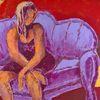Lila, Rot, Gelb figürlich, Malerei