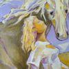 Figur, Ocker, Lavendel, Pferde