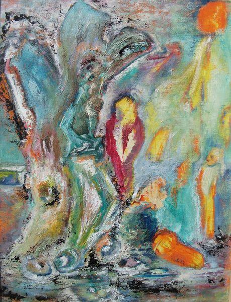Bunt, Baum, Fantasie, Traum, Malerei