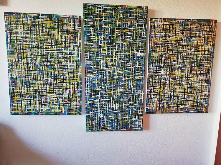 Acrylmalerei, Malerei, Abstrakt, Modern, Mischtechnik, Modern art