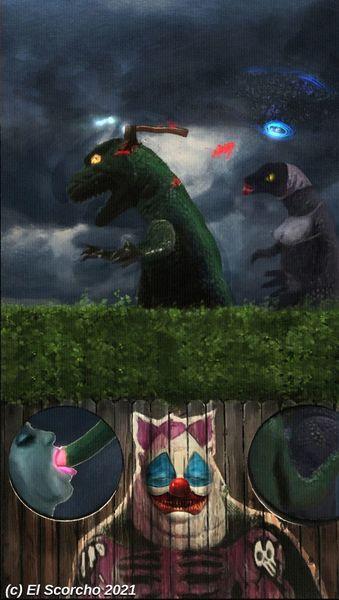 Godzilla, Psychiatrie, Mischtechnik,