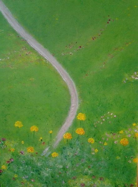 Feld, Spät, Weg, Göttin, Blumen, Lavendel