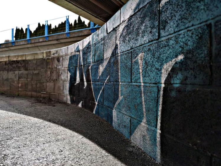 Mauer, Graffiti, Fotografie