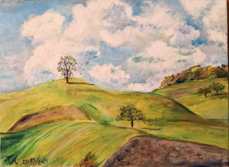 Hügel, Friedl3, Landschaft, Malerei