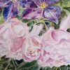 Rose, Clematis, Sommer, Aquarell