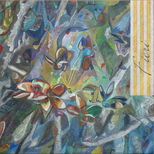 Blüte, Malerei, Abstrakt