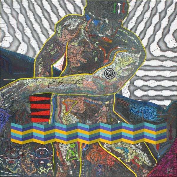 Person, Malerei, Abstrakt