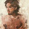 Mann, Spachteltechnik, Portrait, Ölmalerei