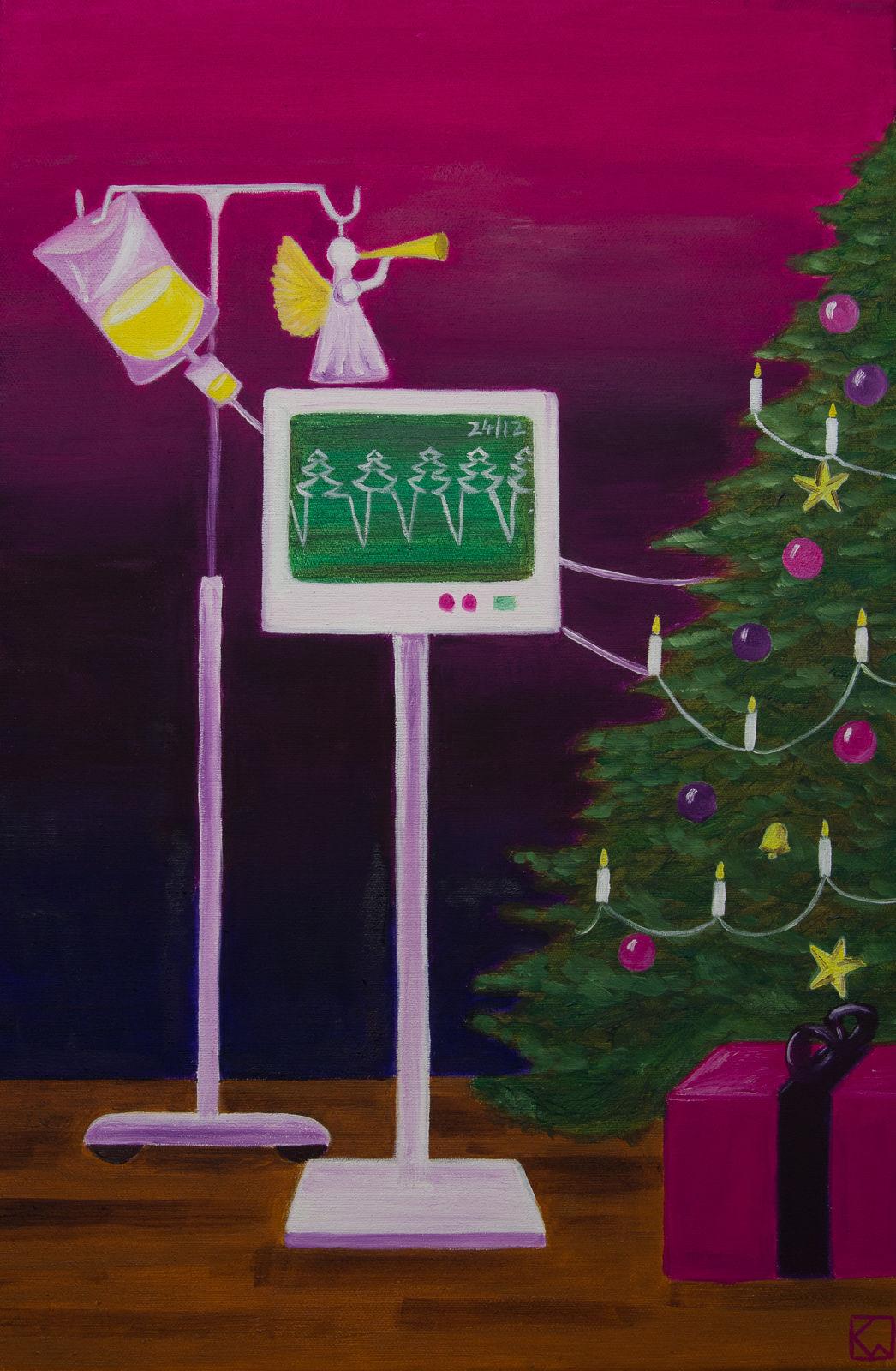 bild weihnachten sterben malerei surreal von katharina. Black Bedroom Furniture Sets. Home Design Ideas