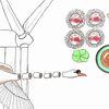 Sushi, Windrad, Schwan, Zeichnungen