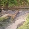 Wald, Fluss, Weg, Malerei