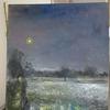 Landschaft, Ems, Mondenschein, Malerei