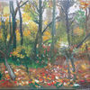 Novemberstimmung, Blätter, Mystik, Malerei