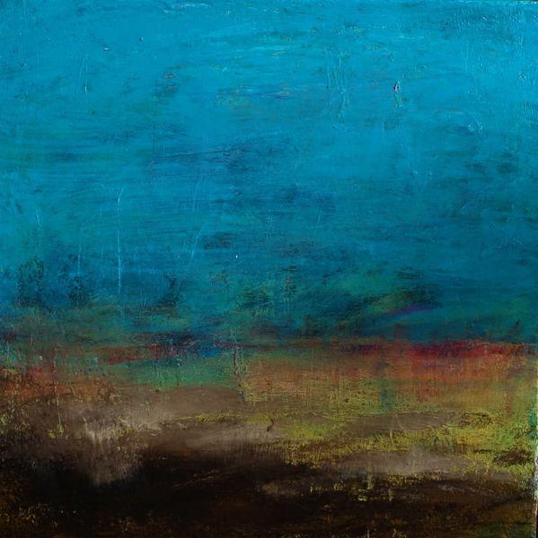 Malerei, Spachteltechnik, Landschaft