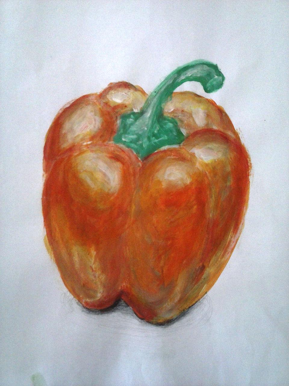 Bild: Paprika, Natur, Orange, Gemüse von Petra Filipic bei KunstNet