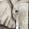 Ölmalerei, Schnitt, Natur, Elefant