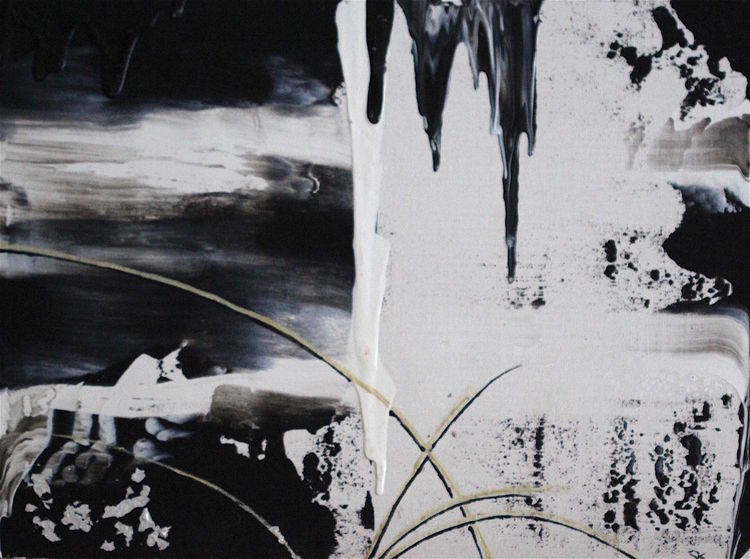 Malerei, Silber, Schwarz weiß, Acrylmalerei, Schwarz, Weiß