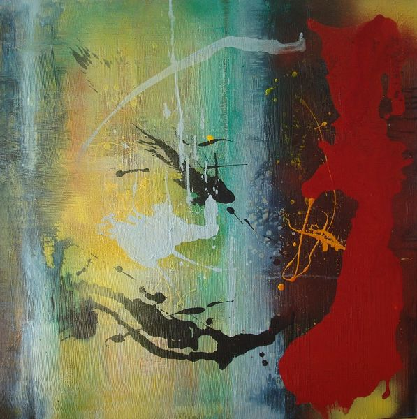 Mischtechnik, Malerei, Abstrakt, Informel