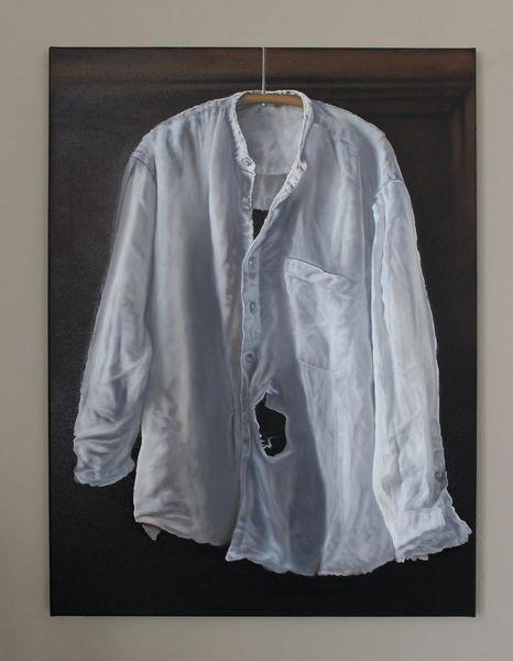 Loch, Kleiderbügel, Hemd, Falten, Malerei