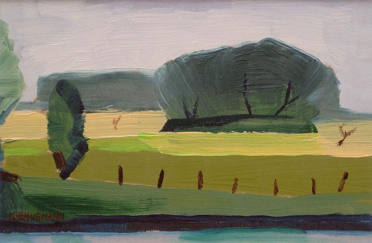 Feld, Malerei, Landschaft, Grün