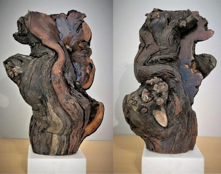 Verwachsen, Holz, Rebstock, Skulptur, Figur, Weinstock