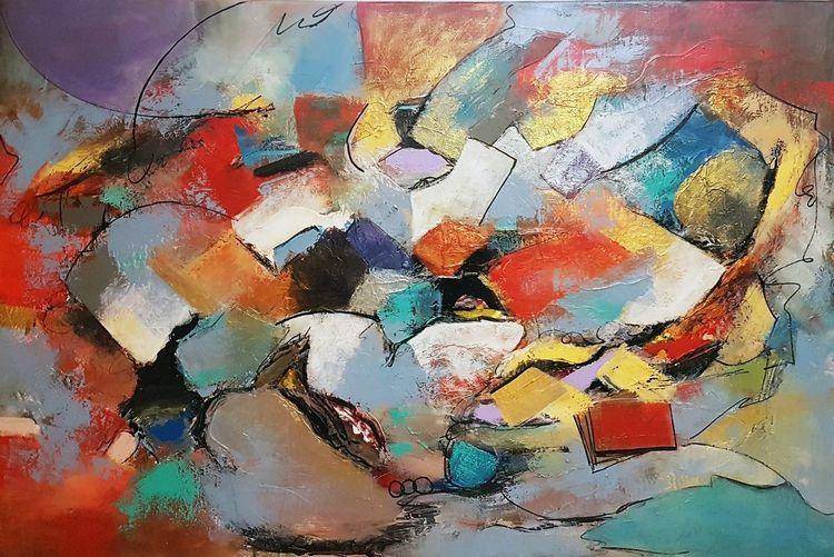 Abstrakte malerei, Moderne malerei, Moderne kunst, Zeitgenössische malerei, Acrylmalerei, Abstrakte kunst