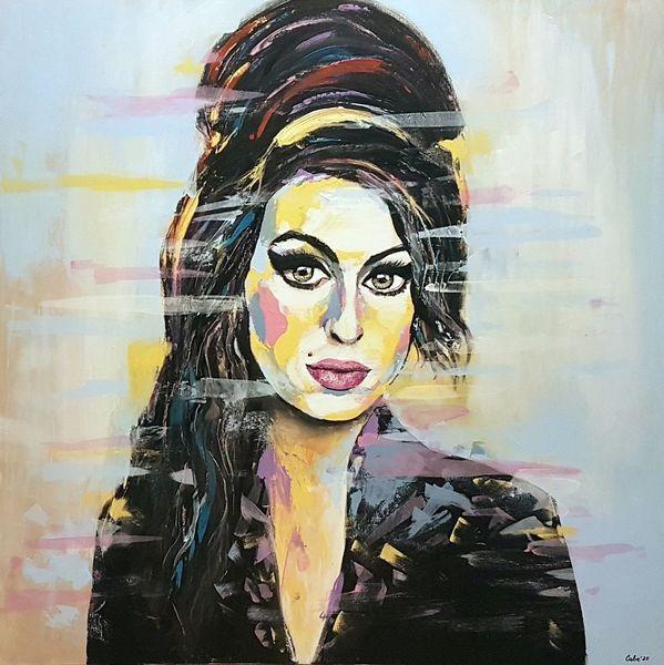 Porträtmalerei, Moderne kunst, Malerei abstrakt, Moderne malerei, Gesicht, Zeitgenössische malerei