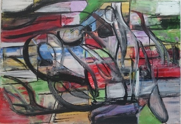 Abstrakte kunst, Schicht, Moderne malerei, Abstrakte malerei, Moderne kunst, Spachteltechnik