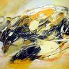 Acrylmalerei, Gelb, Abstrakte malerei, Moderne malerei