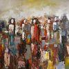 Abstrakte malerei, Gemälde abstrakt, Spachteltechnik, Zeitgenössische kunst