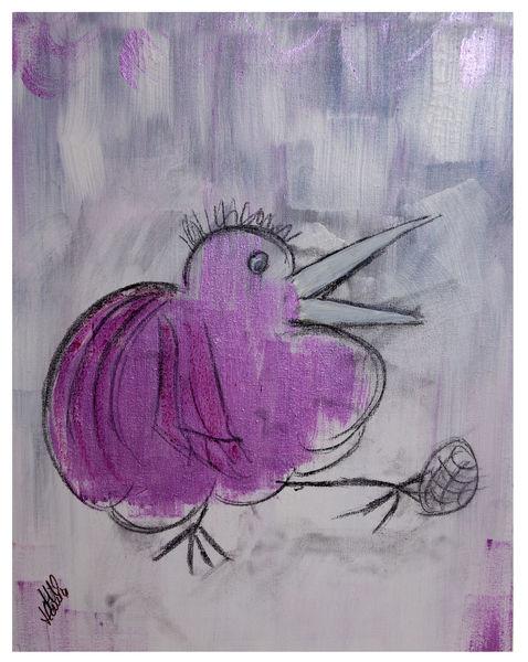 Karikatur, Freude, Mein piepmatz, Malerei