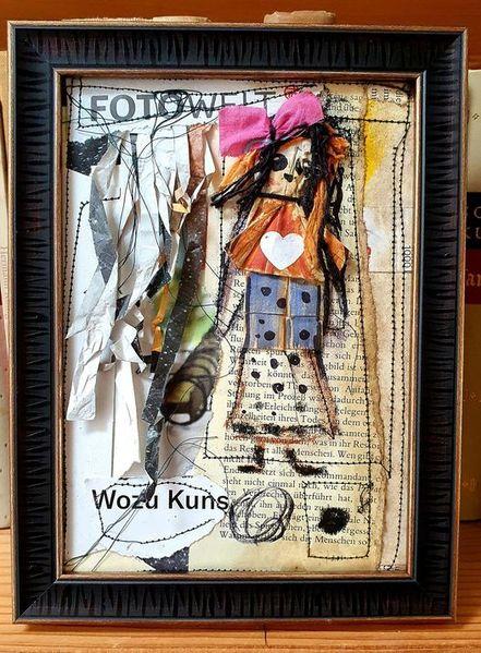 Junk art, Recycle art, Mixed media, Mischtechnik, Party, Wild