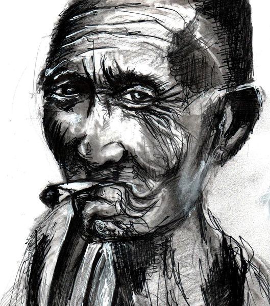 Rauchen, Menschen, Zeichnungen,