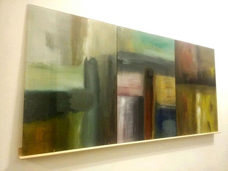 Bunt, Hintrrglass, Abstrakt, Malerei, Acrylmalerei