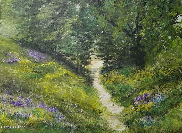 Gras, Wiese, Landschaft, Blumen, Weg, Sommer
