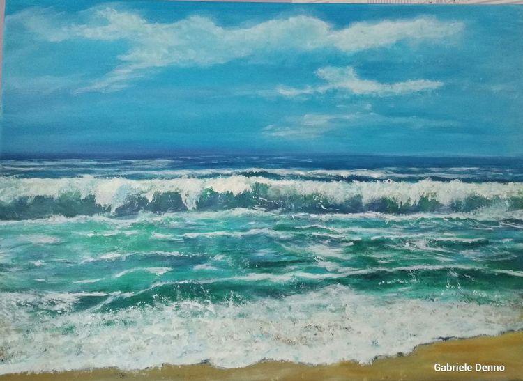 Sonne, Mallorca, Meer, Strand, Welle, Malerei