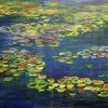 Monet, Seerosen, Wasserfarben, Teich