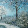 Landschaftsmalerei, Winter, Schnee, Winterlandschaft