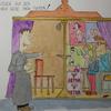 Comic, Karikatur, Zeichnung, Aquarell
