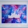 Disney, Burg, Acrylmalerei, Lila