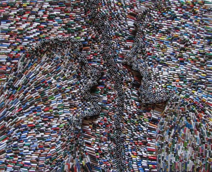 Altpapier, Mischtechnik, Zeitgenössisch, Recycling, Abstrakt, Modern