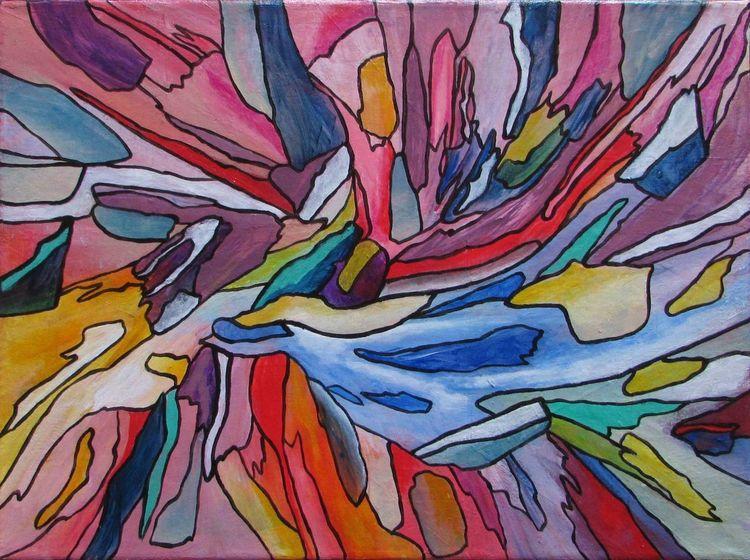 Acrylmalerei, Abstrakt, Modern, Zeitgenössisch, Malerei