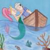Meerjungfrau, Illustration, Mädchen, Charakter