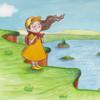 Mädchen, Skizzenbuch, Illustration, Lichtturm