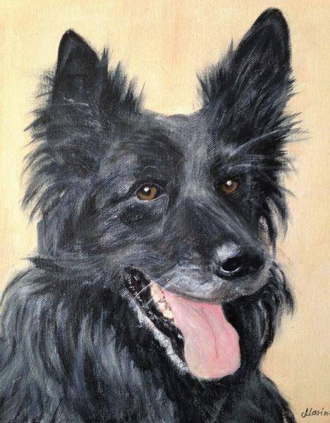 Hund, Tiere, Haustier, Malerei