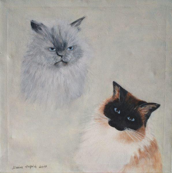 Acrylmalerei, Tiere, Katze, Malerei